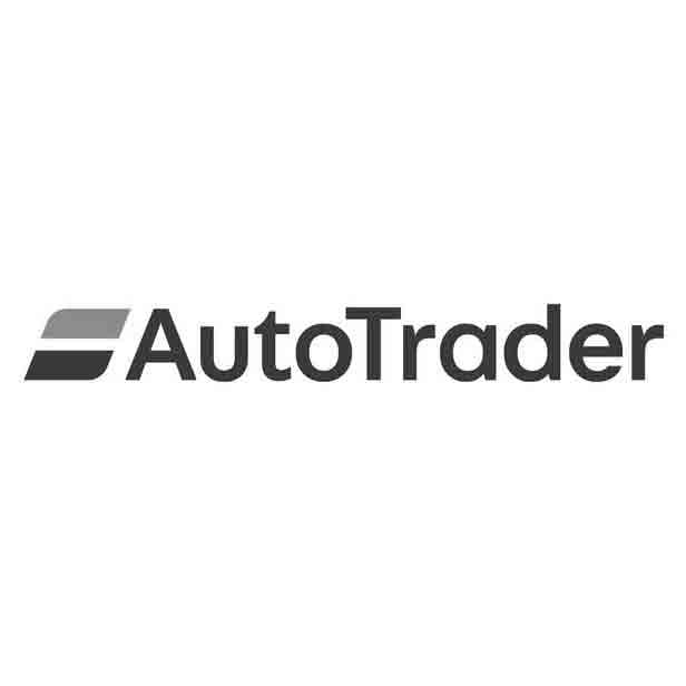 Auto Trader logo black and white