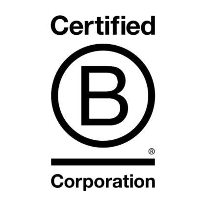 B Corporation logo black and white