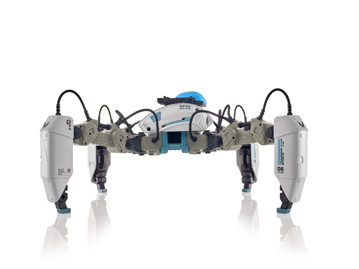 MekaMon AR gaming robot on white background