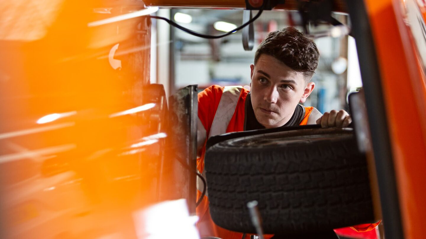 RAC engineer checking a car